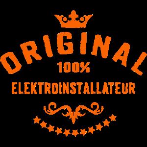 Original 100 Prozent Elektroinstallateur - RAHMENLOS Beruf Arbeit Job Design Geschenke