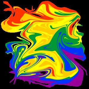 rainbow mess