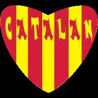 herz catalan rot gelb