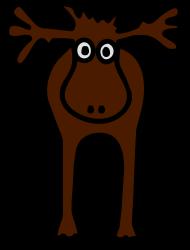 ApresSki-Shirt: Elch oder Rentier braun