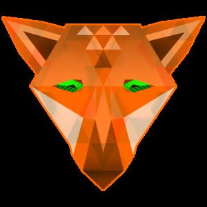 digital Fox Pixel Fuchs Kopf what does the fox say