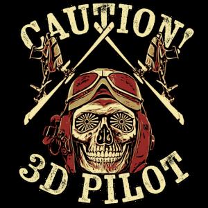 3D-Heli Modellflieger Skull-3d-Pilot - RAHMENLOS