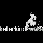 kellerkind.rocks Logo, 2 colors, white