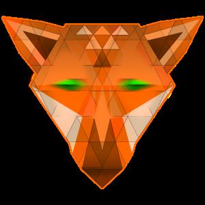 digital Fox Pixelart Fuchs Psychedelic Animals EDM