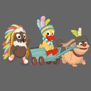 Pittiplatsch Indianerfreunde mit Schnatti & Moppi