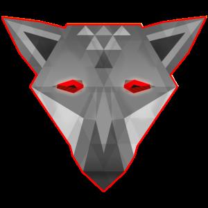 digital Wolf moderner Wolfs Kopf Psychedelic Art