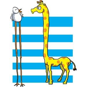 La girafe et l'échassier