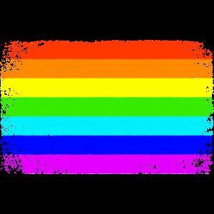 Peace Regenbogen Flagge