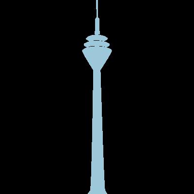 Rheinturm - Rheinturm Düsseldorf - gebäude,fernsehturm,düsseldorf,Wahrzeichen,Turm