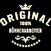 Original 100 Prozent Bühnenarbeiter - RAHMENLOS creme Beruf Arbeit Job Design Geschenke