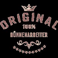Original 100 Prozent Bühnenarbeiter - RAHMENLOS red vintage Beruf Arbeit Job Design Geschenke