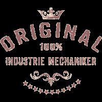 Original 100 Prozent Industrie Mechaniker - RAHMENLOS red vintage Beruf Arbeit Job Design Geschenke
