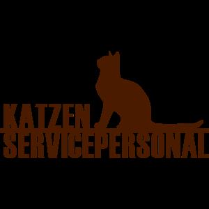 Katzen Servicepersonal