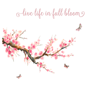 Lebe dein Leben in voller Blüte-Typografie