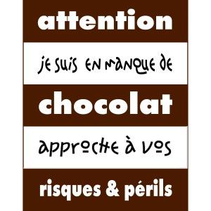 manque de chocolat