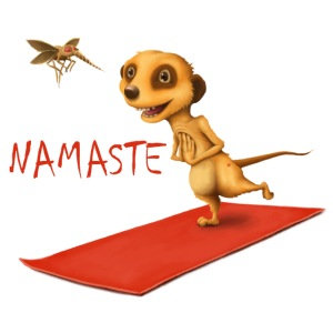 Yoga Meerkat Namaste