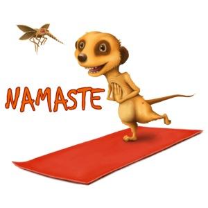 Yoga Meerkat Namaste2