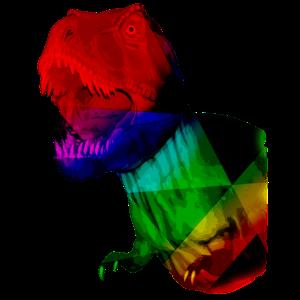 T-Rex digital Dinosaurier Pixel Tyrannosaurus