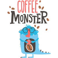 Kaffee Monster - Coffein Sucht müde