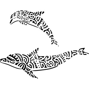 TAHITIAN DOLPHINS (tribal collection)