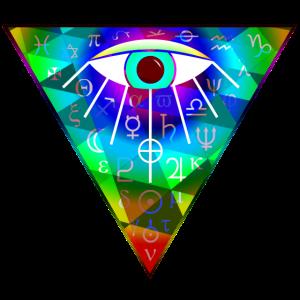 allsehendes Auge Symbole Goa EDM Psy Trance