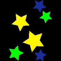 Sterne mit 5 Zacken