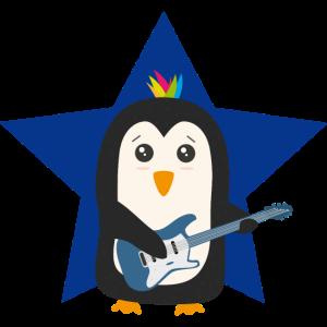 Rock Gitarren Pinguin