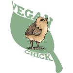 Vegan Chick mit Küken