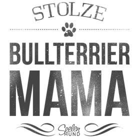 Stolze Bullterrier-Mama