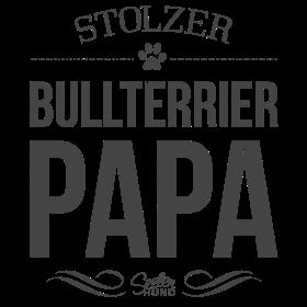 Stolzer Bullterrier-Papa