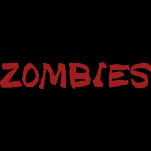 Schriftzug ZOMBIES für eure Zombie Survival Shirts