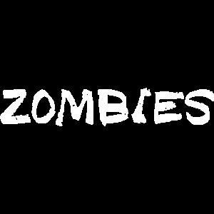 Schriftzug ZOMBIES für die Zombie Survival Shirts