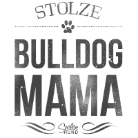 Stolze Englische Bulldoggen-Mama