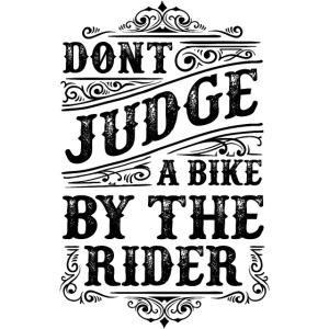 Don't judge…