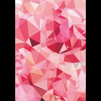 Abstrakte Formen in Rosa