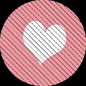 Gestreiftes Herz Rosa