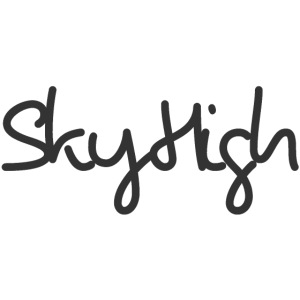 SkyHigh - Men's Premium T-Shirt - Black Lettering
