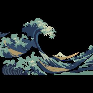 Japan Hokusai Große Welle