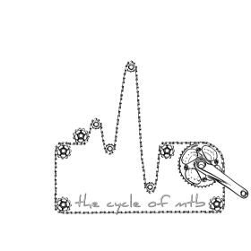 cycle of mtb heart white