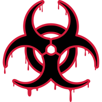 Toxic Biohazard Symbol Hardstyle Techno Rave