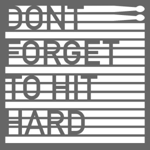 hit hard design white