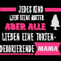 Tortendekorierende Mama