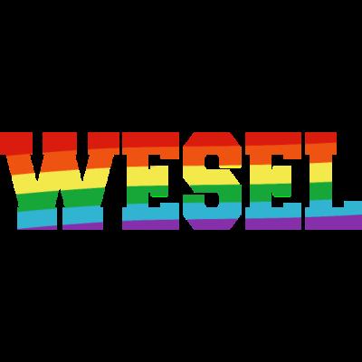 Wesel Regenbogenfahne - Wesel ist bunt. - transgender,queer,lesbisch,homosexuell,bunt,bisexuell,bisexual,Wesel,Tolleranz,Stadt,Schwule,Regenbogenflagge,Regenbogenfahne,Regenbogen,Nordrhein-Westfalen,Lesben,LGBT,Germany,Gay pride,Deutschland,CSD