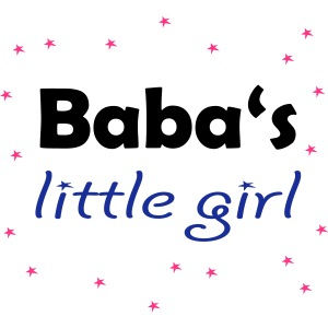"""Baba's little girl"" Babylätzchen"