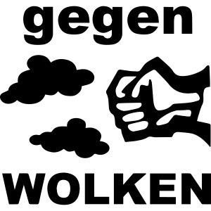 """""""Gegen Wolken!"""" Schwarz - Männer"""