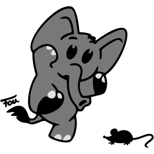 Elefant + Maus - colored