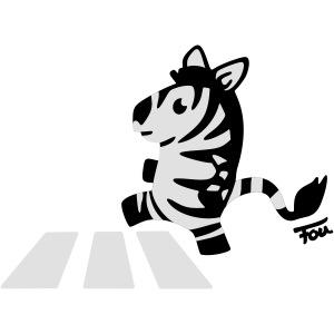 Zebra - colored