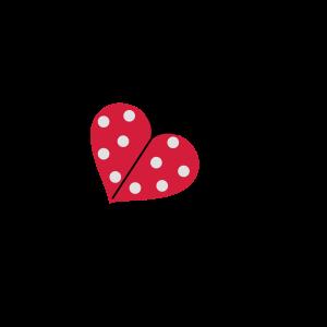 Marienkäfer Herz Punkte