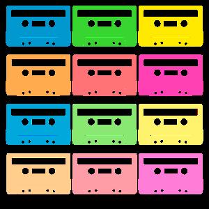 Kassetten bunt