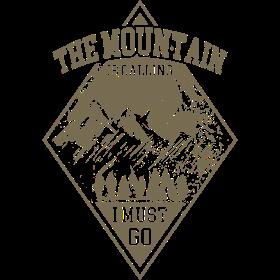 Mountain is calling - Der Berg ruft RAHMENLOS Geschenk Outdoor Sports 08 FS03